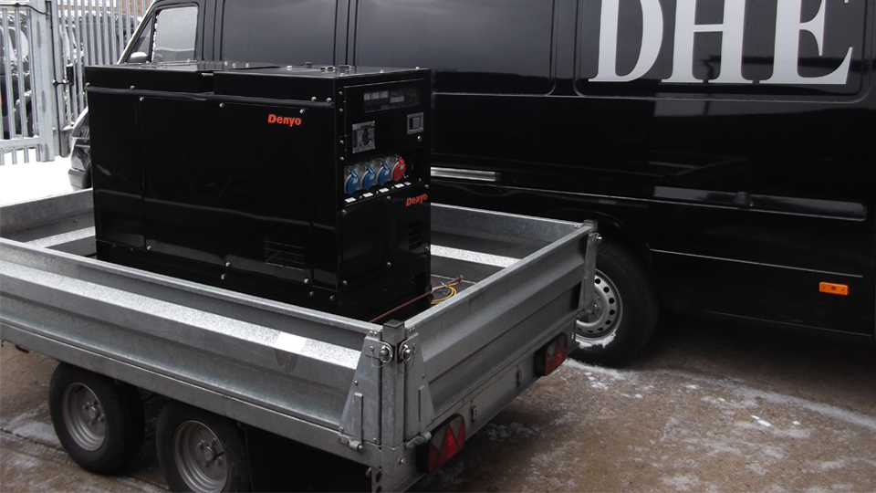 Scotland Stage Hire 12.5KVA Super Silent Road Towable Diesel Generator